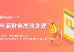 """""""疫情""""电商快递恢复之后,如何利用电商宝ERP高效完成财务处理及盈亏预测?"""