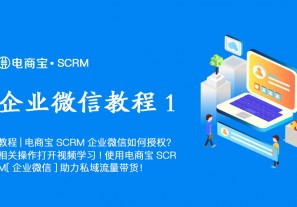 教程|电商宝SCRM企业微信如何授权?相关操作打开视频学习!使用电商宝SCRM「企业微信」助力私域流量带货!