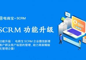功能升级:电商宝SCRM企业微信新增客户群及客户标签的管理功能,助力商家精细化管理企微!
