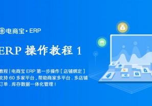 教程 电商宝ERP第一步操作【店铺绑定】支持60多家平台,帮助商家多平台、多店铺订单、库存数据一体化管理!