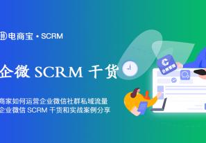 商家如何运营企业微信社群私域流量?企业微信SCRM干货和实战案例分享!