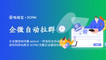 企业微信如何像wetool一样加好友自动拉群,如何利用电商宝SCRM完整企业微信社群营销!