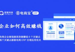 电商企业做强做规范做高效做赚钱的6个关键点,每一个关键点都跟电商ERP合理应用有关!