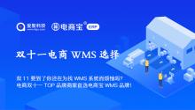 双11要到了你还在为找WMS系统而烦恼吗?电商双十一TOP品牌商家首选电商宝WMS品牌!