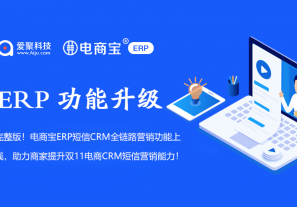完整版!电商宝ERP短信CRM全链路营销功能上线,助力商家提升双11电商CRM短信营销能力!