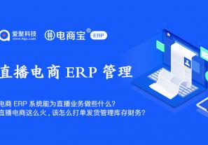 电商ERP系统能为直播业务做些什么?直播电商这么火,该怎么打单发货管理库存财务?