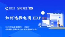 2020年的全渠道双十一来临了,你的网店电商ERP系统准备好了吗?