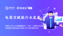 电商宝ERP企业版赋能双十一双十二电商行业发展,高效稳定免费试用让商家ERP软件选择无忧!