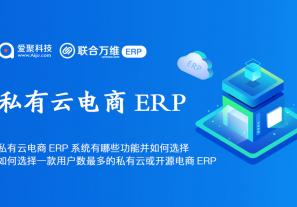私有云电商ERP系统有哪些功能并如何选择? 如何选择一款用户数最多的私有云或开源电商ERP?