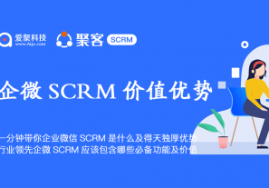 一分钟带你企业微信SCRM是什么及得天独厚优势?行业领先企微SCRM应该包含哪些必备功能及价值?