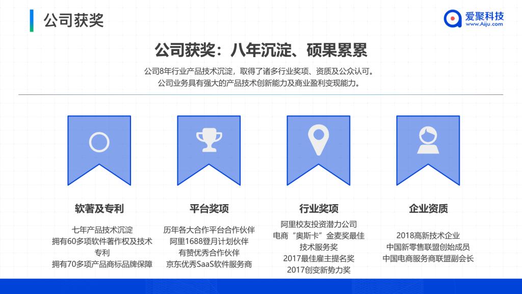 爱聚科技公司荣获奖项