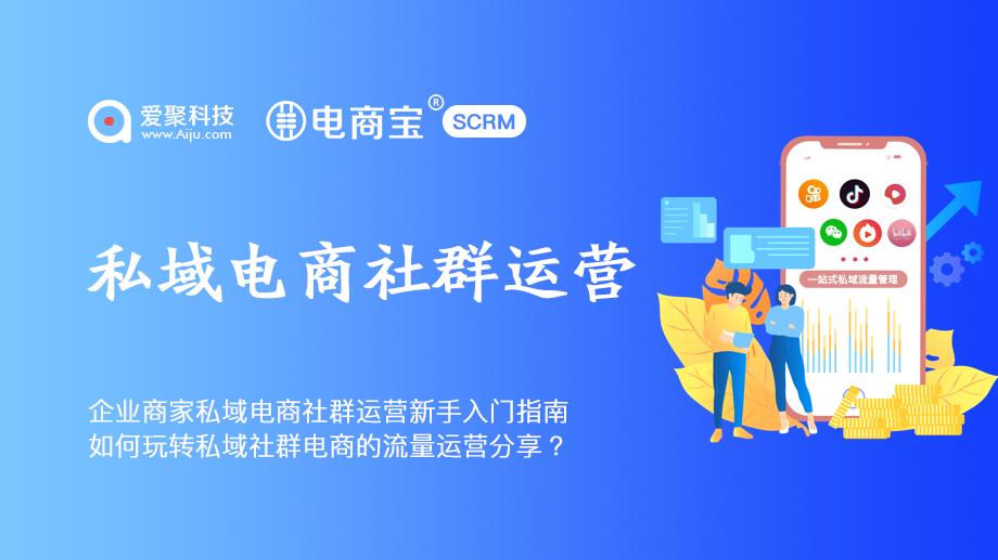 企业商家私域电商社群运营新手入门指南电商宝SCRM