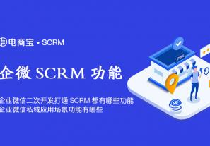 企业微信二次开发打通SCRM都有哪些功能?企业微信私域应用场景功能有哪些?
