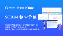 """""""SCRM""""到底是什么与CRM的区别是什么?电商宝SCRM三大核心价值:高效客户触达、全域数据打通、内容赋能营销!"""