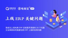 想成功上线电商ERP系统需弄清楚的20个问题,企业商家如何规避电商ERP上线的各种问题?