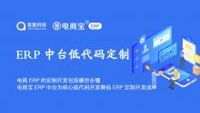 电商ERP的定制开发包括哪些步骤?电商宝ERP中台为核心,低代码开发降低ERP定制开发成本!