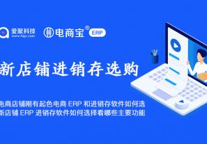电商店铺刚有起色电商ERP和进销存软件如何选?新店铺ERP进销存软件如何选择看哪些主要功能?